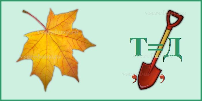 ребус листопад, ребусы про осень, ребус, ребусы, ребусы с ответами, разгадать ребус, разгадать ребус по картинке